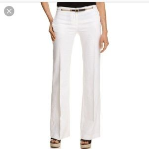 Michael Michael Kors Wide Leg White Linen Pants 6